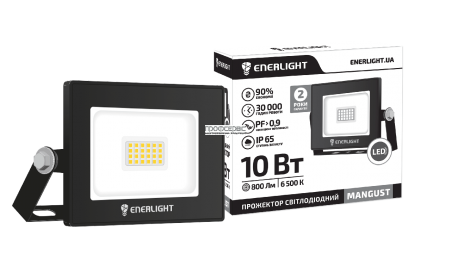 Прожектор LED ENERLIGHT 10W MANGUST 6500K IP65